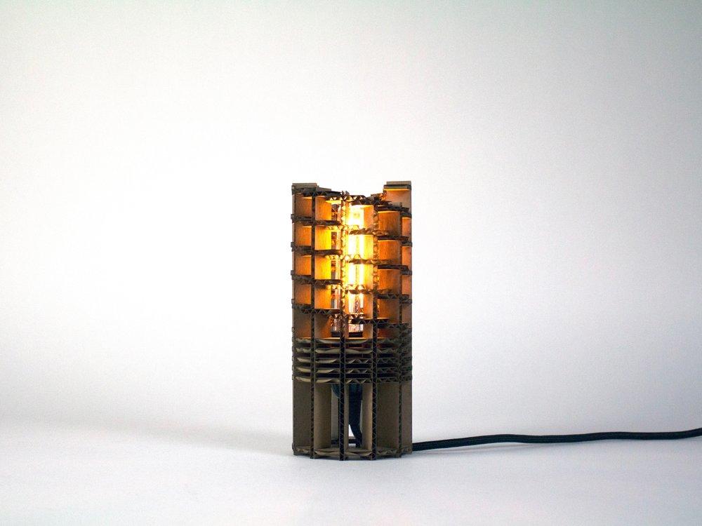 Cardboard Flat-Pack Lamp