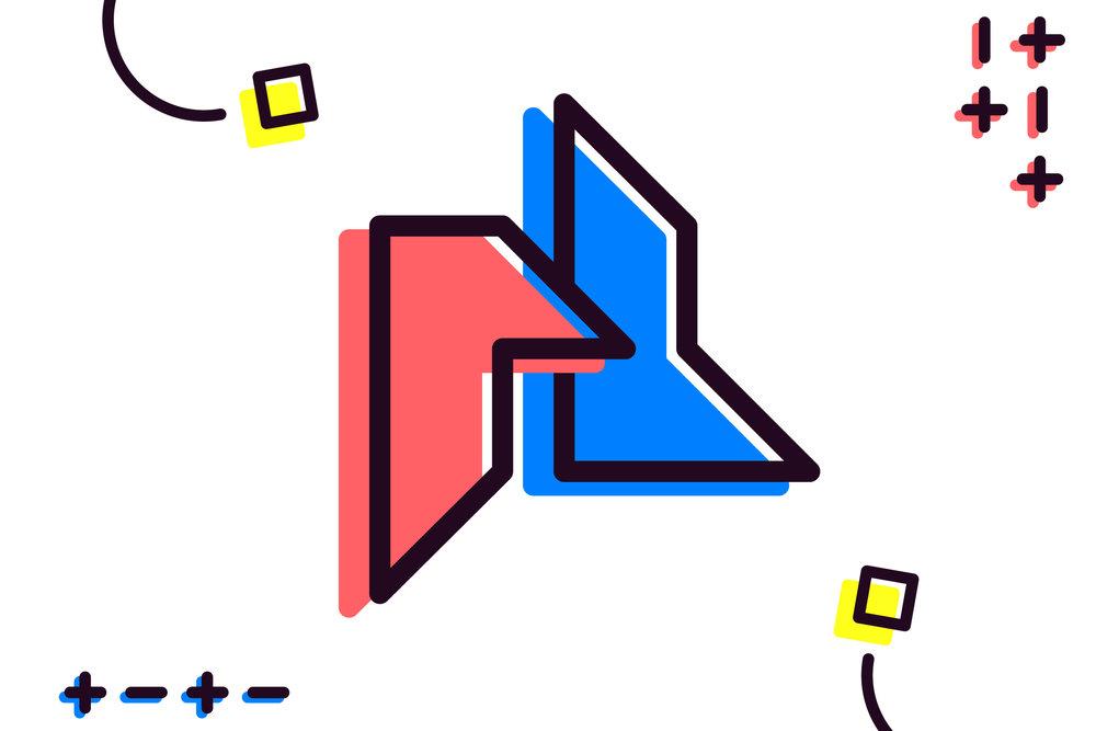 Pixel Husky Logo Stylization