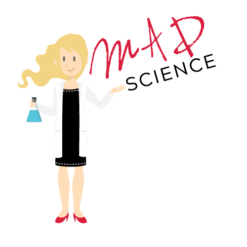 This logo is for a college student at Pace University who will be starting a blog on the science behind beauty (as I like to call it). Madison (the MAD in MADScience) will be blogging about the science behind the creation of beauty products and the opportunities for the ladies in the STEM fields.