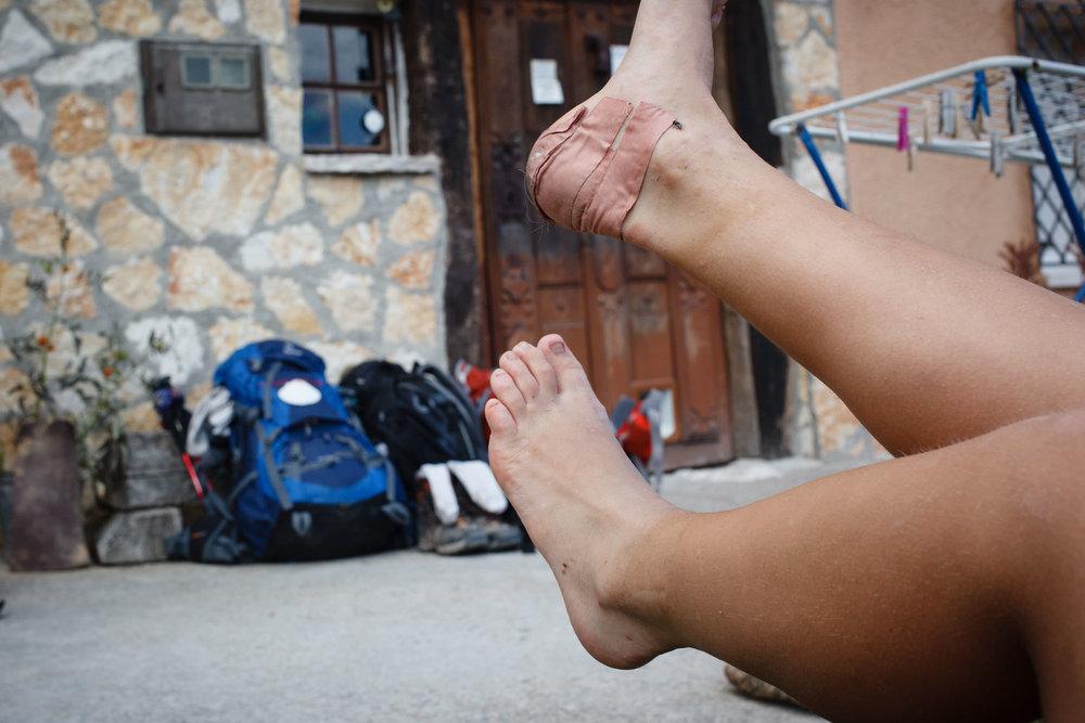 13/09/14 Peregrinos en el Camino de Santiago en Agés, Burgos, Castilla y León, España. Foto @ James Sturcke | www.sturcke.org