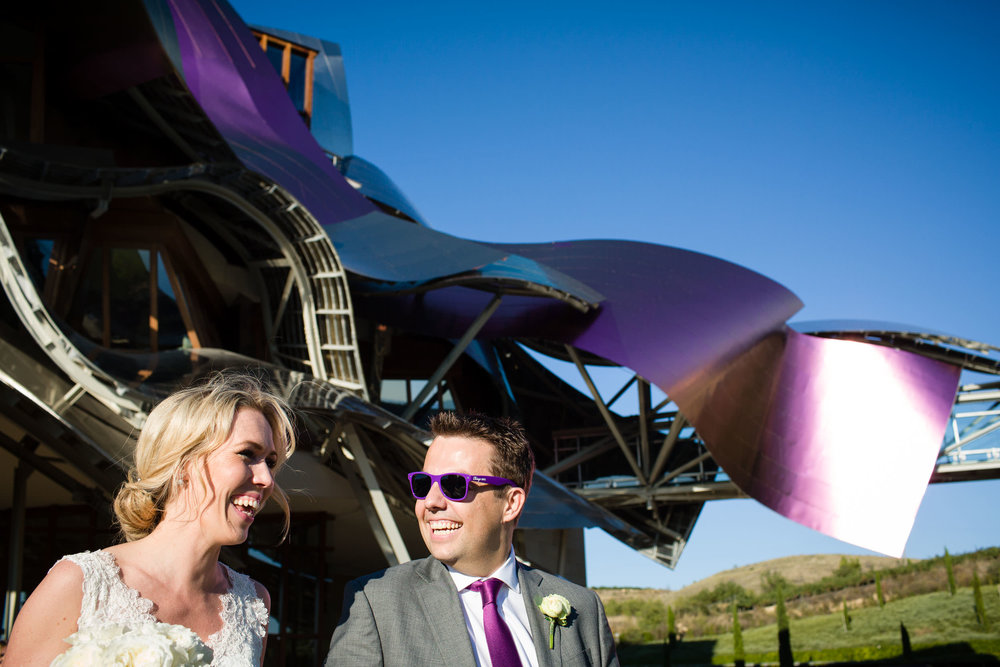 6/9/15 Emma & Gareth's wedding at Hotel Marqués de Riscal, Elciego, Álava, Basque Country, Spain. Photo by James Sturcke | www.sturcke.org