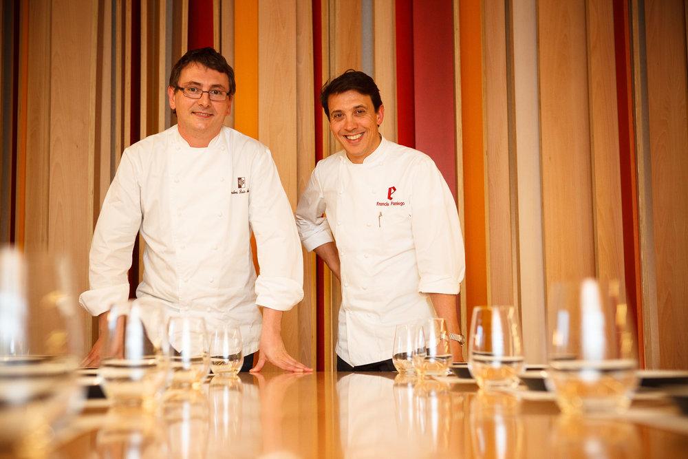 22/3/12 Andoni Luis Aduriz y Francis Paniego en Resaurante Tondeluna, Logroño, España. Foto: James Sturcke Fotografía | www.sturcke.org