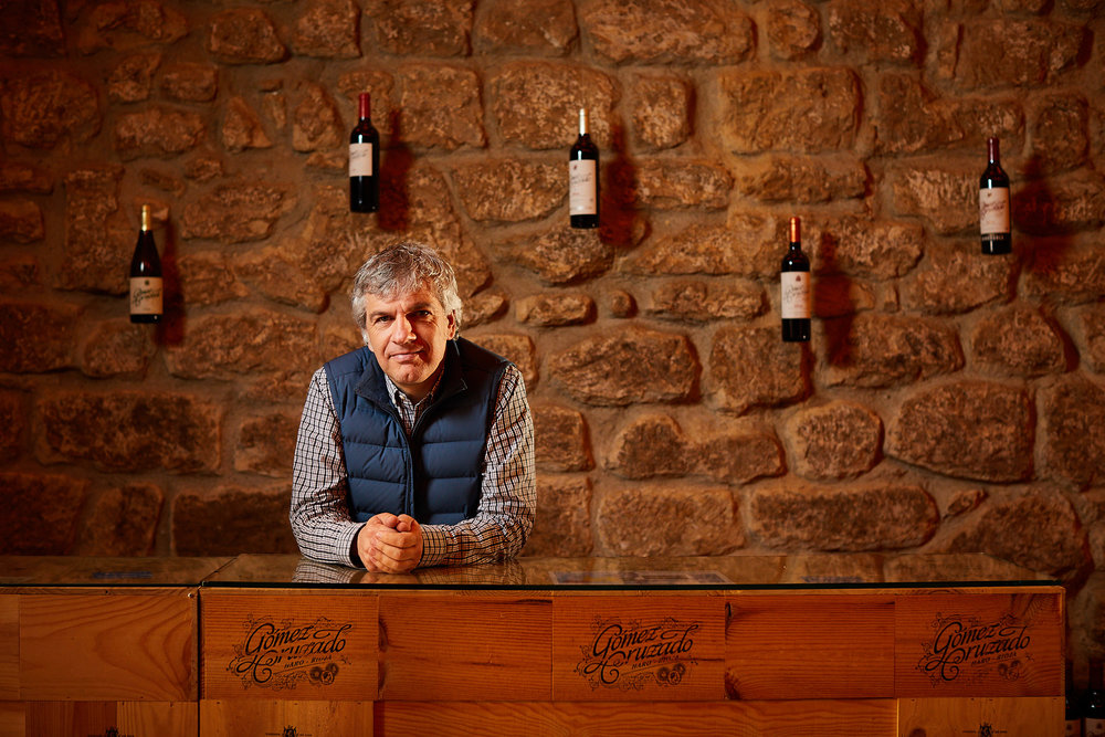 27/3/18. Portrait photographer Rioja Spain. David González, Bodegas Gómez Cruzado, Haro, La Rioja, Spain. Photo by James Sturcke | sturcke.org
