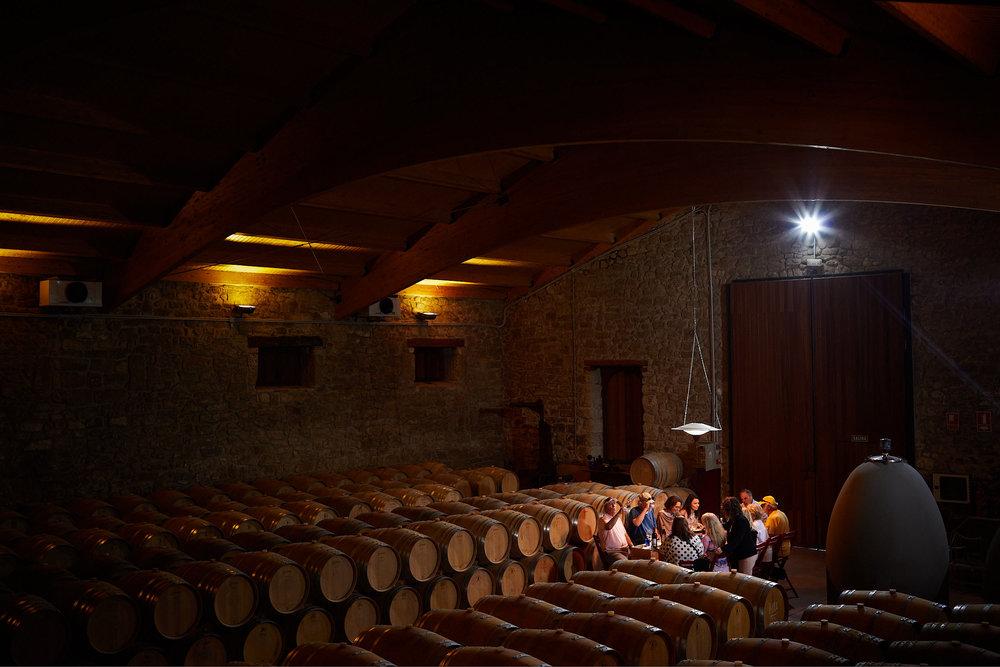 19/9/2018. Enoturismo. Bodegas Gómez Cruzado, Haro, La Rioja, Spain. Photo by James Sturcke | sturcke.org