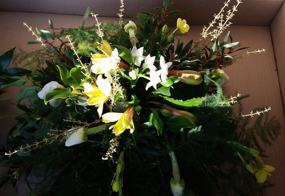flowers suitable for green burial floral tribute eco-friendly funeral flowers