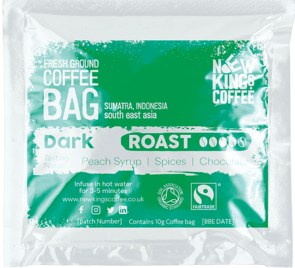 Dark Roast Fresh Ground Coffee - Sumatra Indonesia South East Asia