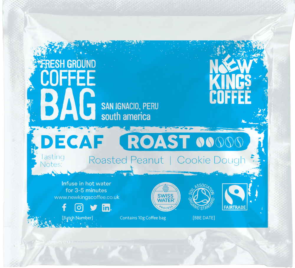 Medium-bodied, smooth, mild and sweet coffee, decaffeinated using the Swiss Water Process
