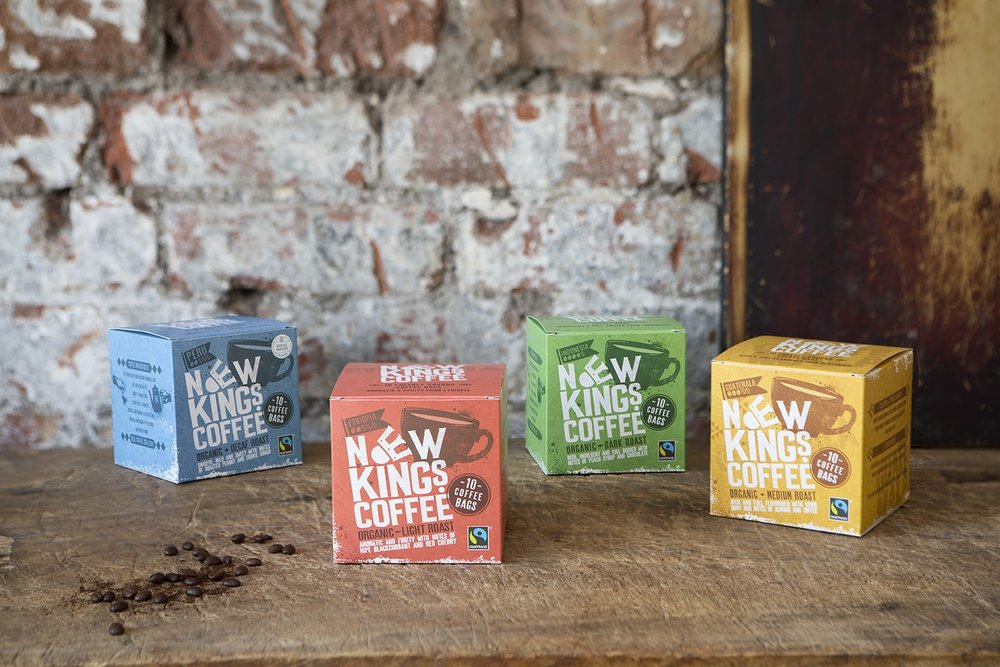 New Kings Coffee Bags Fairtrade Organic