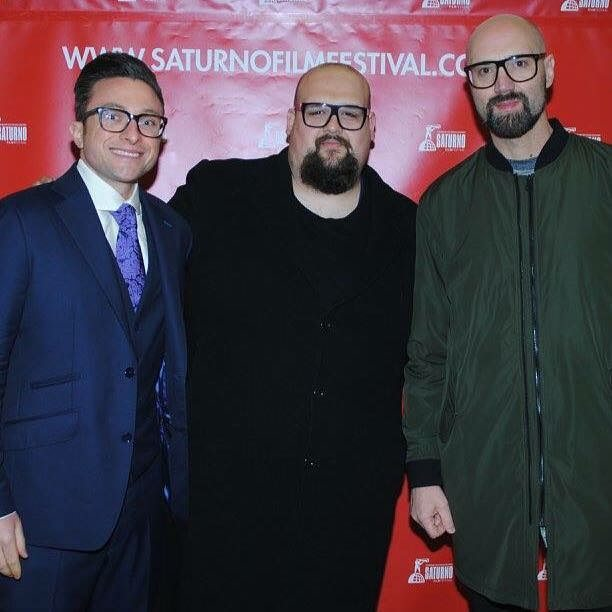 Proud to be a sponsor and partner of @saturnofilmfestival , alongside Fashion Designer Francesco Antici and blogger/performer/model Ray Morrison. #pearlpictures #filmfestival #redcarpet #fashiondesigner #model #blogger #Rome #italy #francescoantici #raymorrison #zacharyweckstein