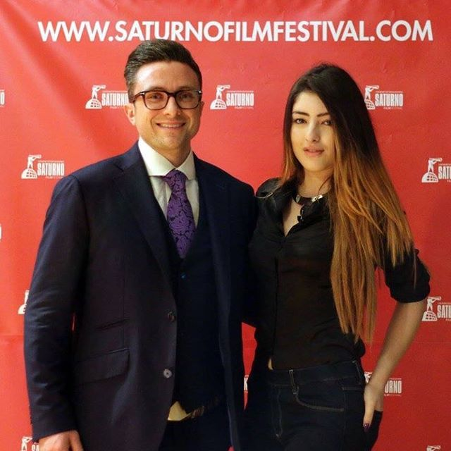 Interviewed by Isabella Dumby from Radio Mania @saturnofilmfestival #filmfestival #filmindustry #radio #pearlpictures #interview #redcarpet #Rome #italy #saturnofilmfestival