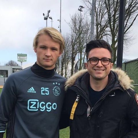 Spending the morning with Kasper Dolberg and the rest of AFC Ajax 1 team training @kasperdolberg @pearl.pictures #afcajax #traning #amsterdam #football #soccer #filmmaker #life