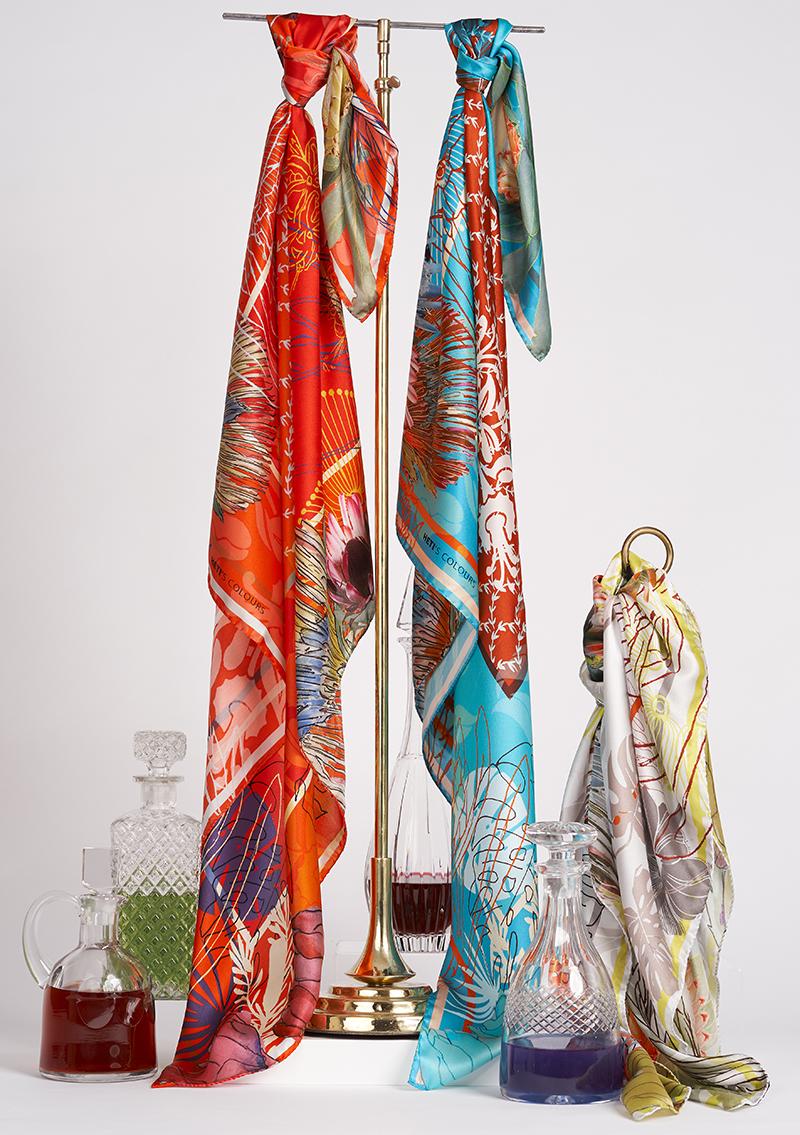 silk scarf spring summer 2018 heti's colours Lola designer scarves
