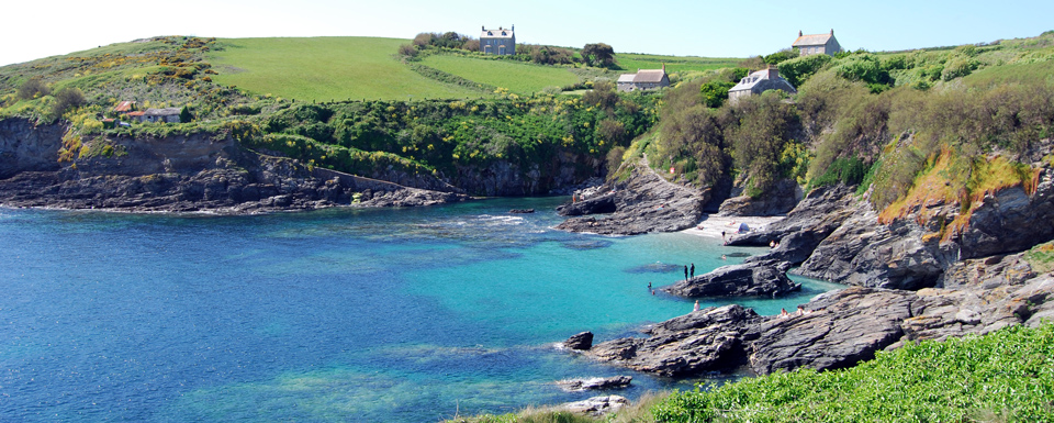 Prussia Cove -  4 miles: Small romantic rocky cove with sandy beach at low tide.