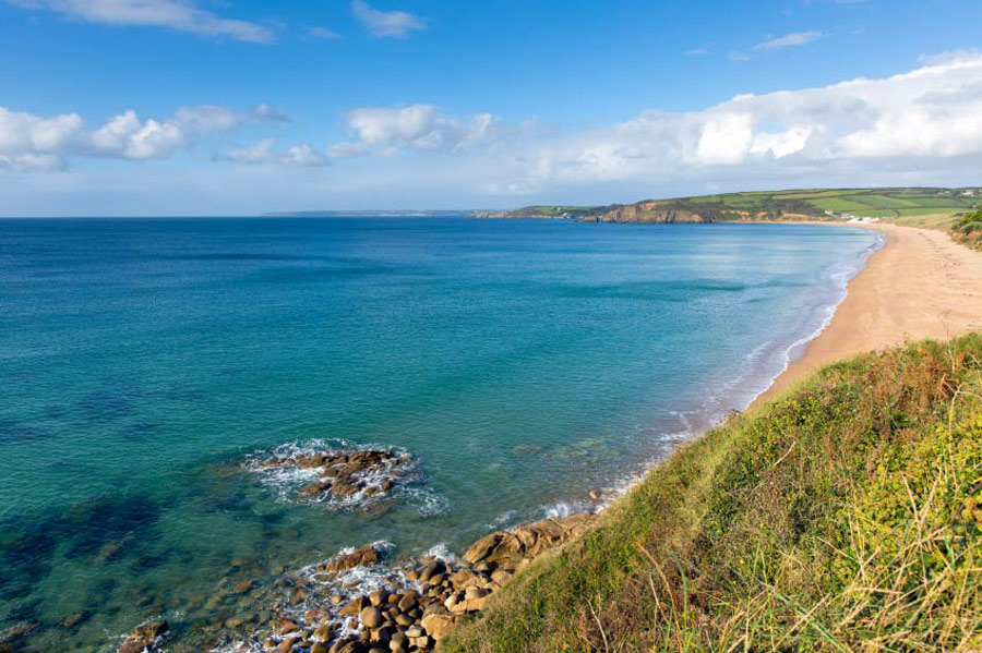 Praa Sands -  5 miles east.  A great sandy beach surrounded by cliffs, gently sloping and ideal for bathing. Good surf with a surf school near the beach.
