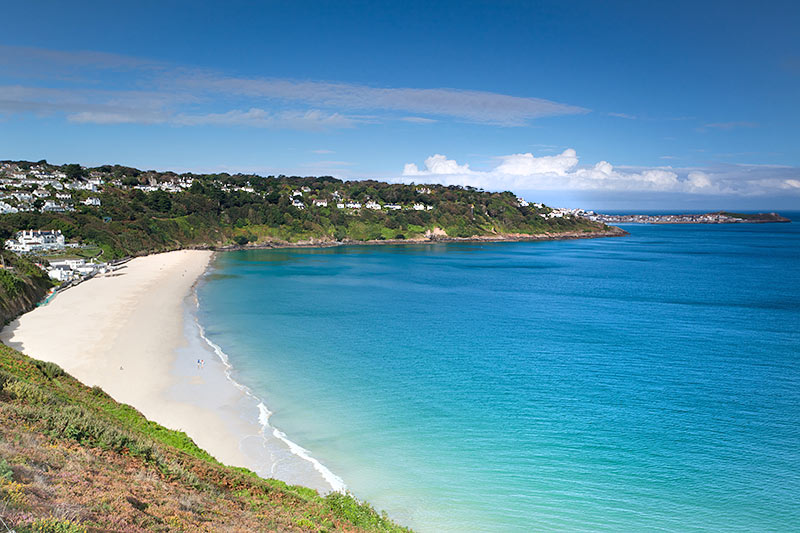 Carbis Bay - 7 miles north. A stunningbeach with safe bathing and convenient for meal or sauna at Carbis Bay Hotel.