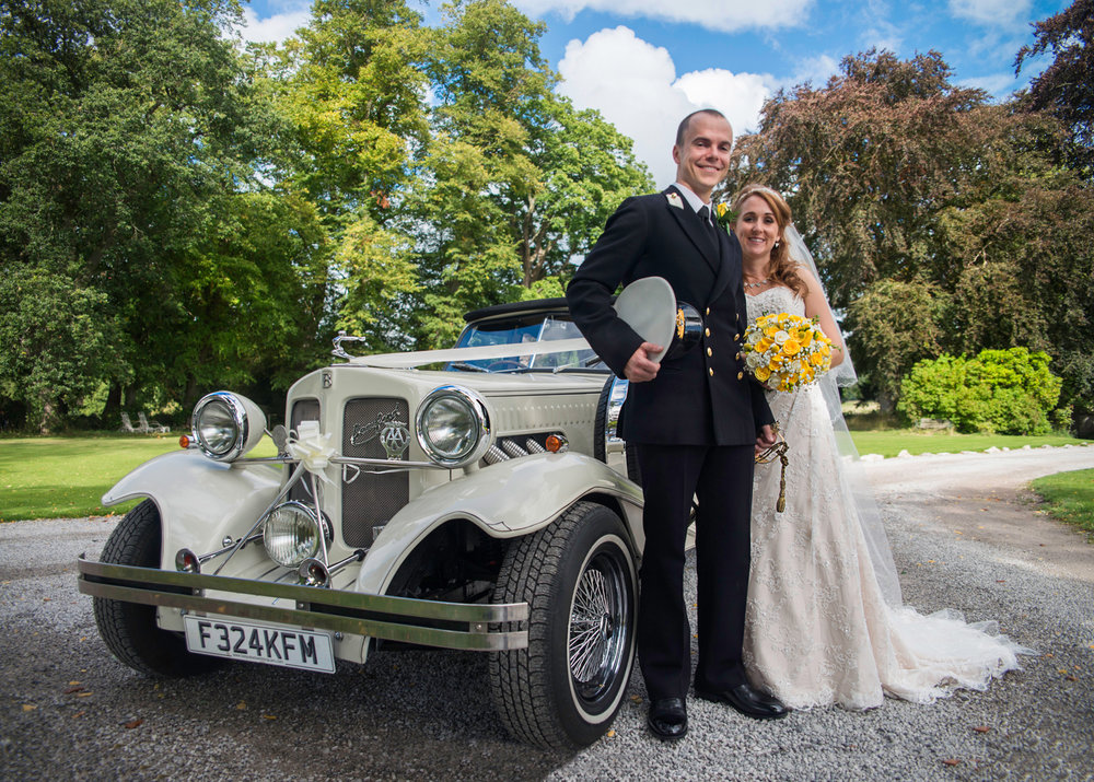 Bride and Groom Portrait at Pentre Mawr Country House