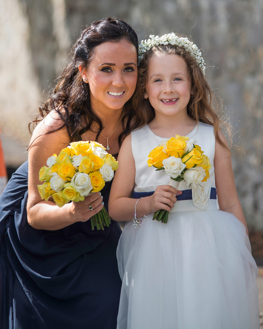 MOH and flower girl wedding day | St Cynfran