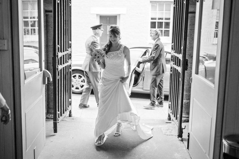 Arundel Town Hall | Bride arriving for the ceremony