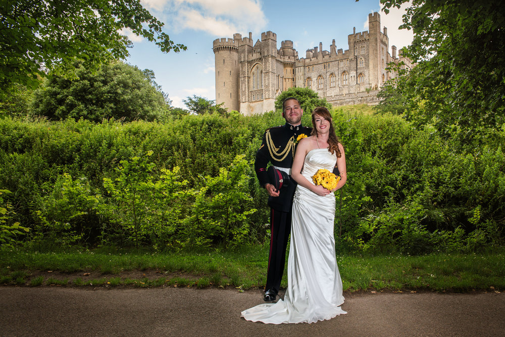 Bride and groom portrait | Arundel Castle | wedding photography