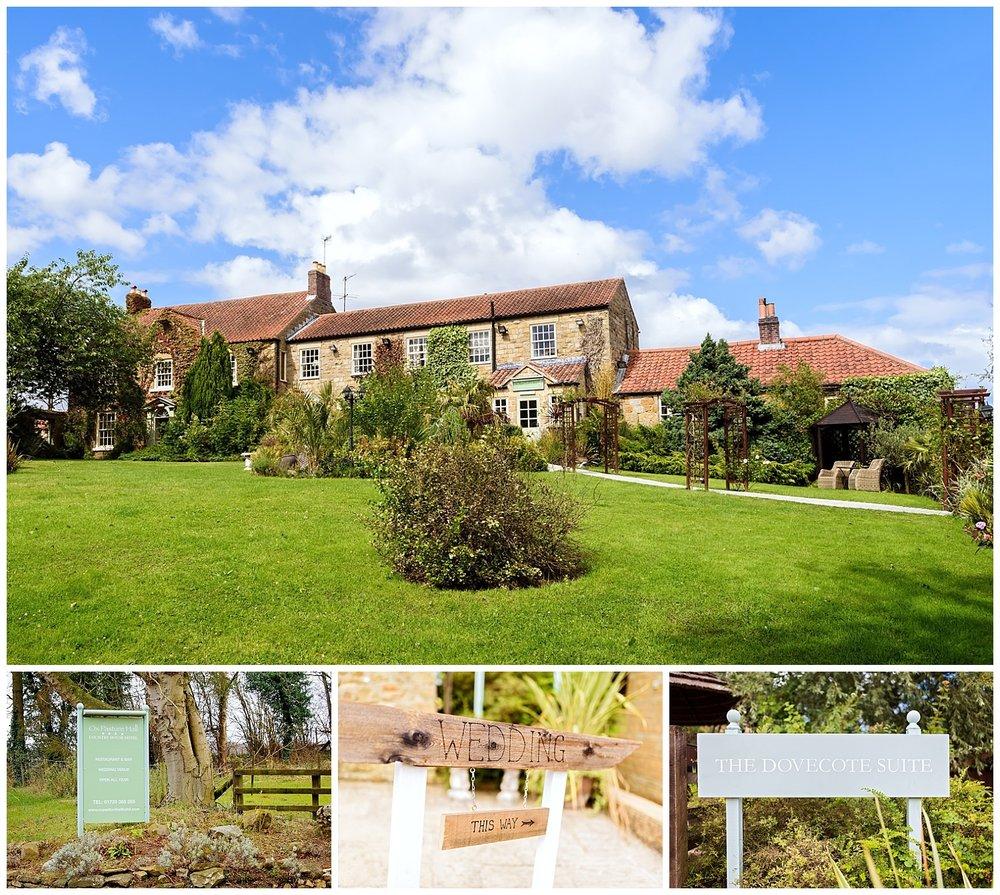 ox Pasture Hall | Yorkshire Wedding Photographer | front gardens
