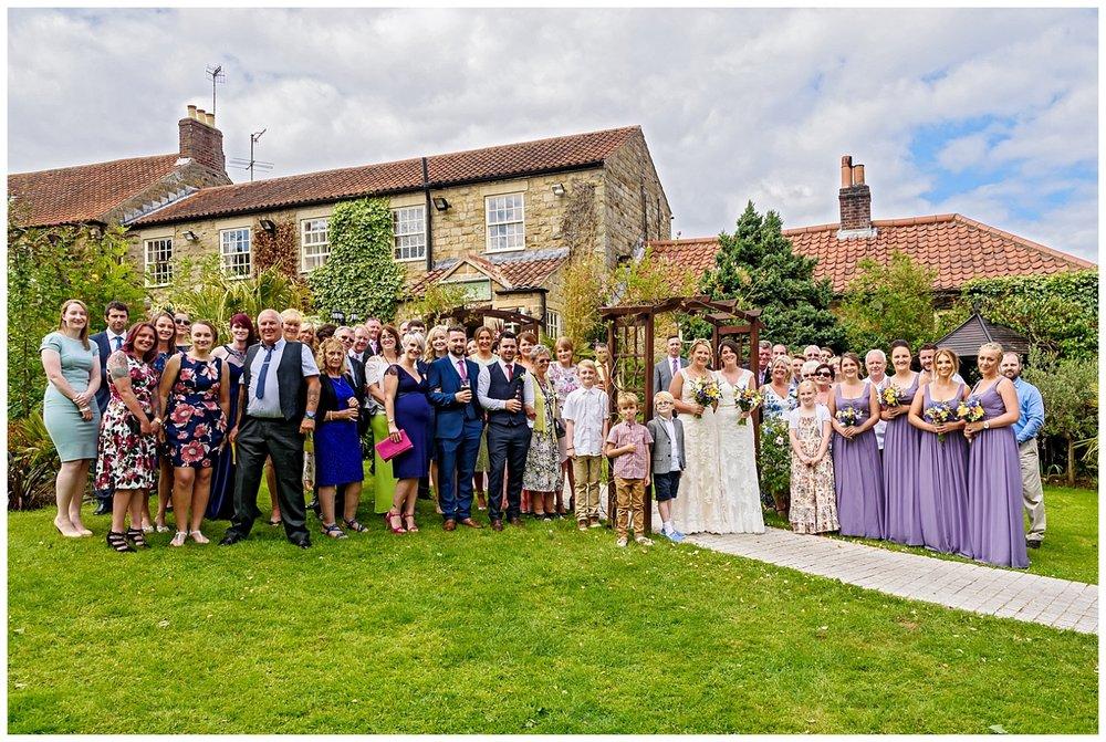 Wedding group shot | Ox Pasture Hall | Yorkshire Photography