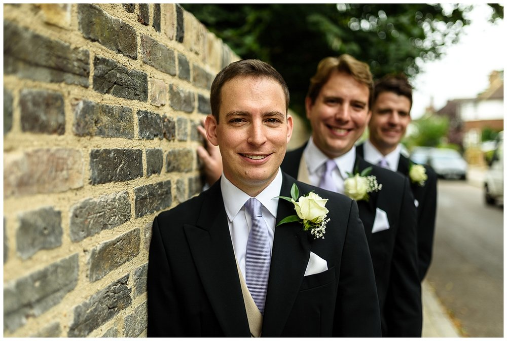 Groom and Groomsmen | Surrey Wedding | Alex Buckland Photography