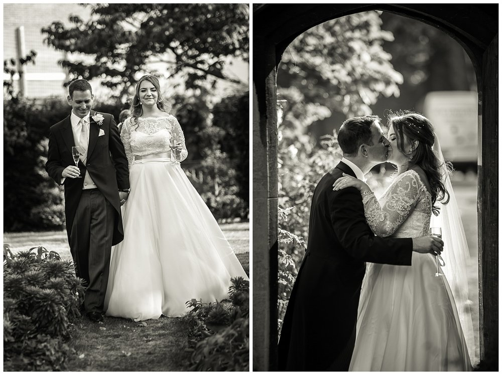 Bride and Groom walking | Lambeth Palace Gardens | Surrey and London Wedding Photographer