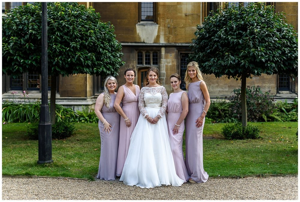 Bride and Bridesmaids | Lambeth Palace | Surrey and London Wedding Photographer