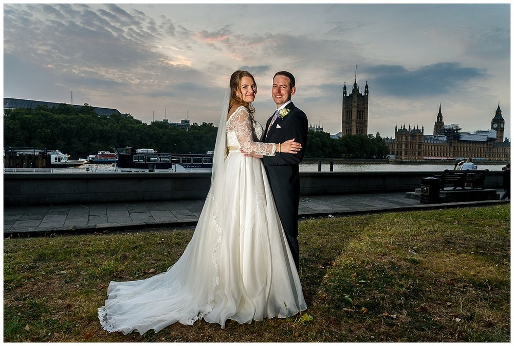 Bride and Groom | Embankment | London Wedding Photographer