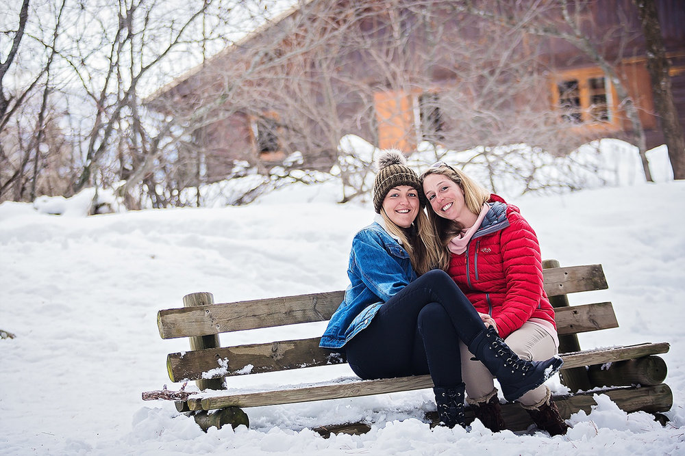 same sex couple portrait in the beautiful French Alps