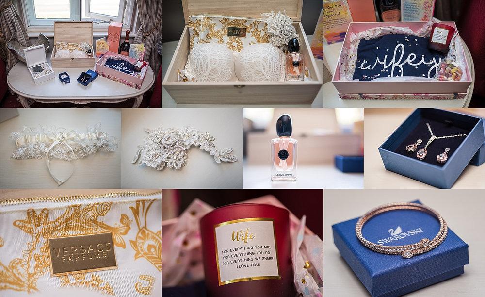 wedding details captured during bridal prep