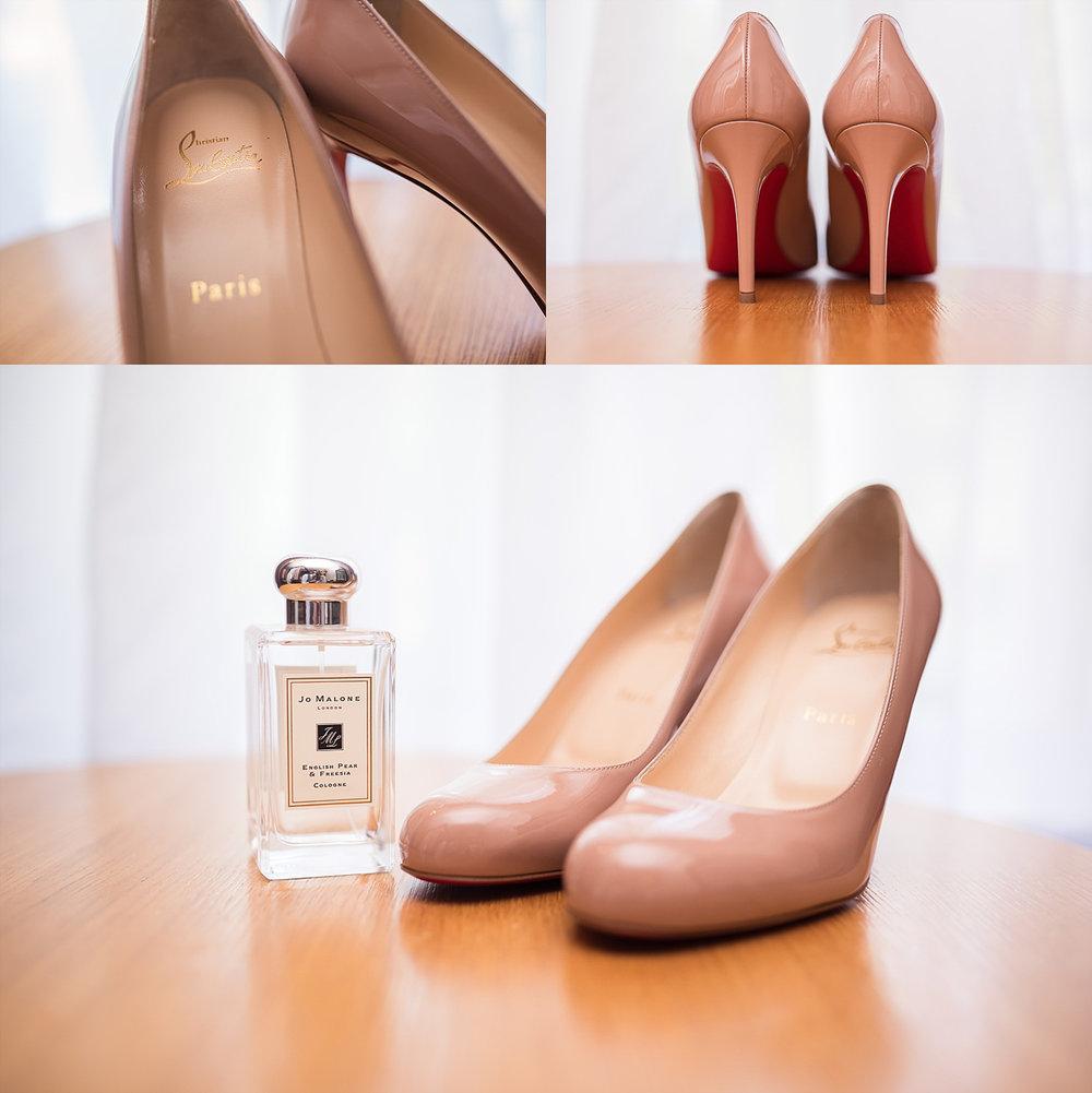 christian louboutin bride shoes