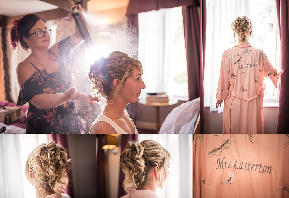 light and airy bridal prep