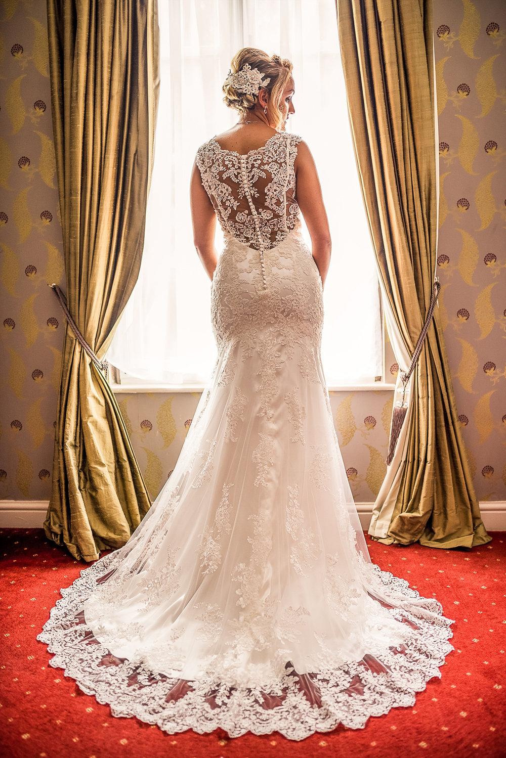 bride stunning wedding portrait