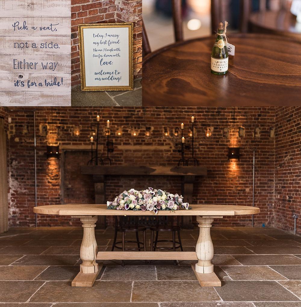 Hazel Gap Barn wedding details