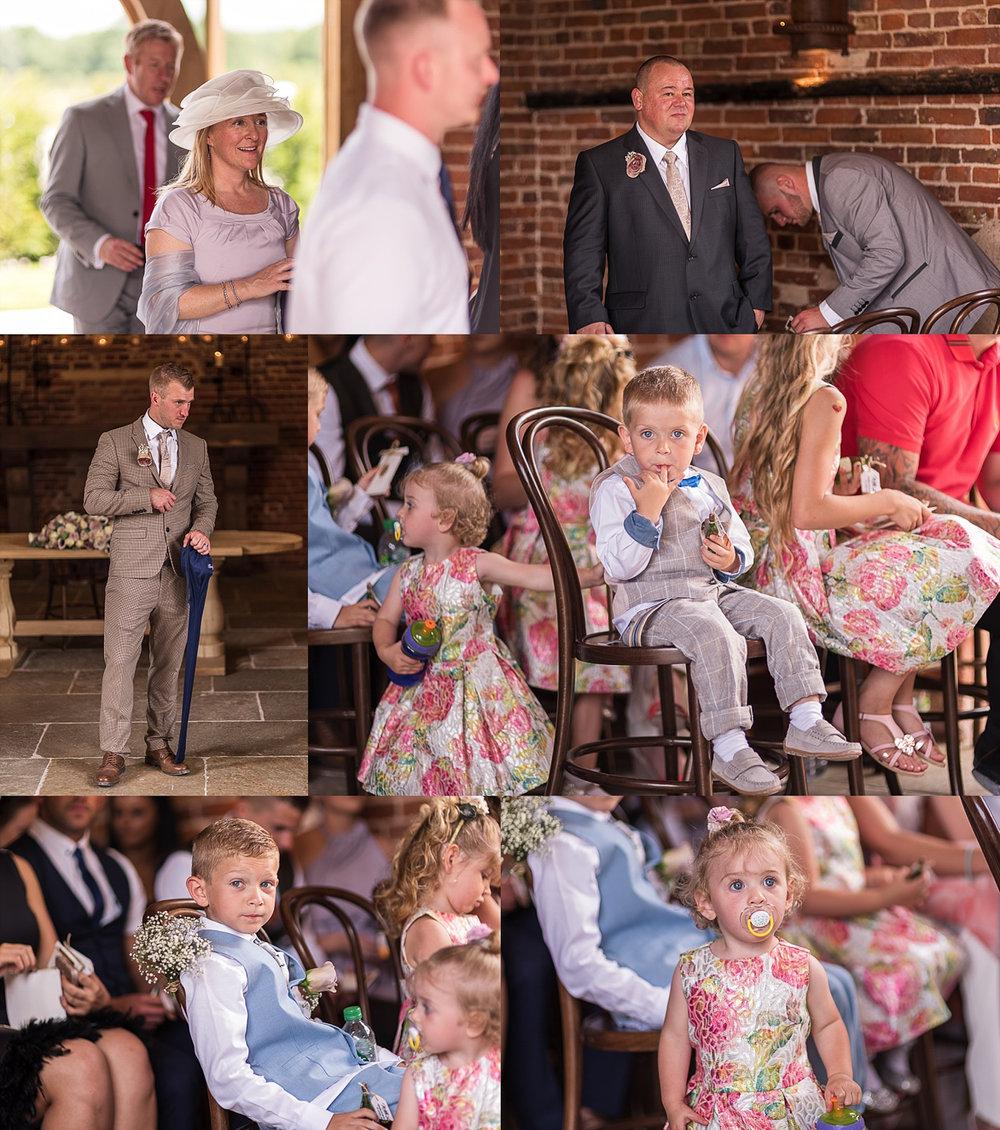 guests arriving hazel gap barn wedding