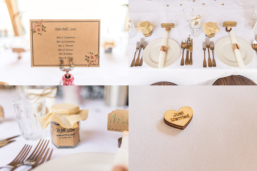 reception top table wedding details