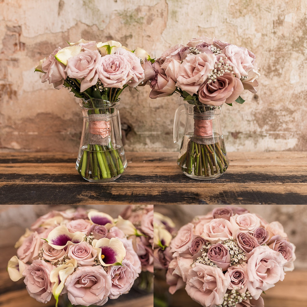 stunning pastel coloured wedding bouquets