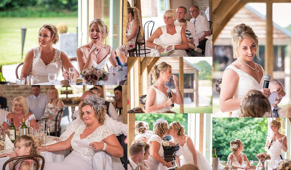 Wedding speeches Hazel Gap Barn