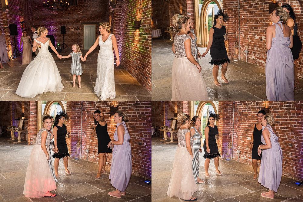 bridesmaids have a dance during Hazel Gap wedding