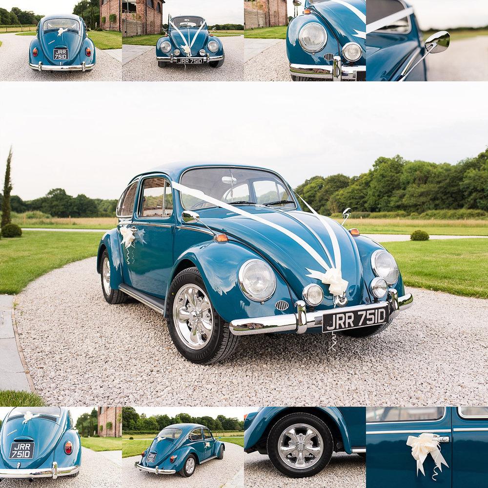 Great example of Volkswagon Beetle wedding car