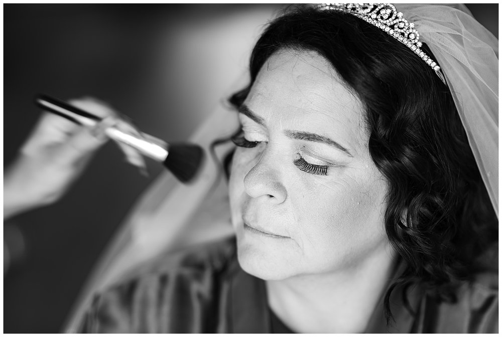 Stylistic bridal prep photo