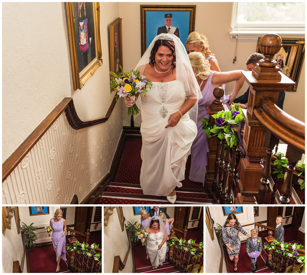 bride entering ceremony room