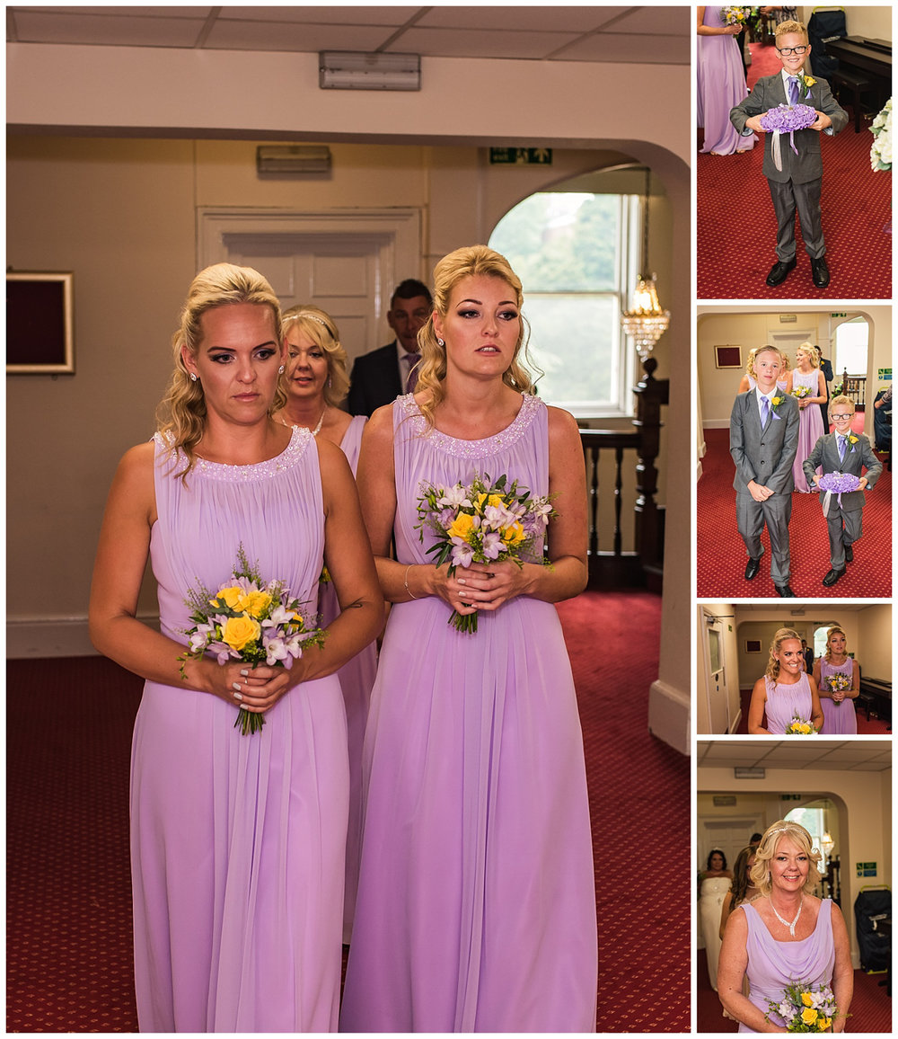 Bridesmaids and Ushers entering ceremony room |Glenmore house