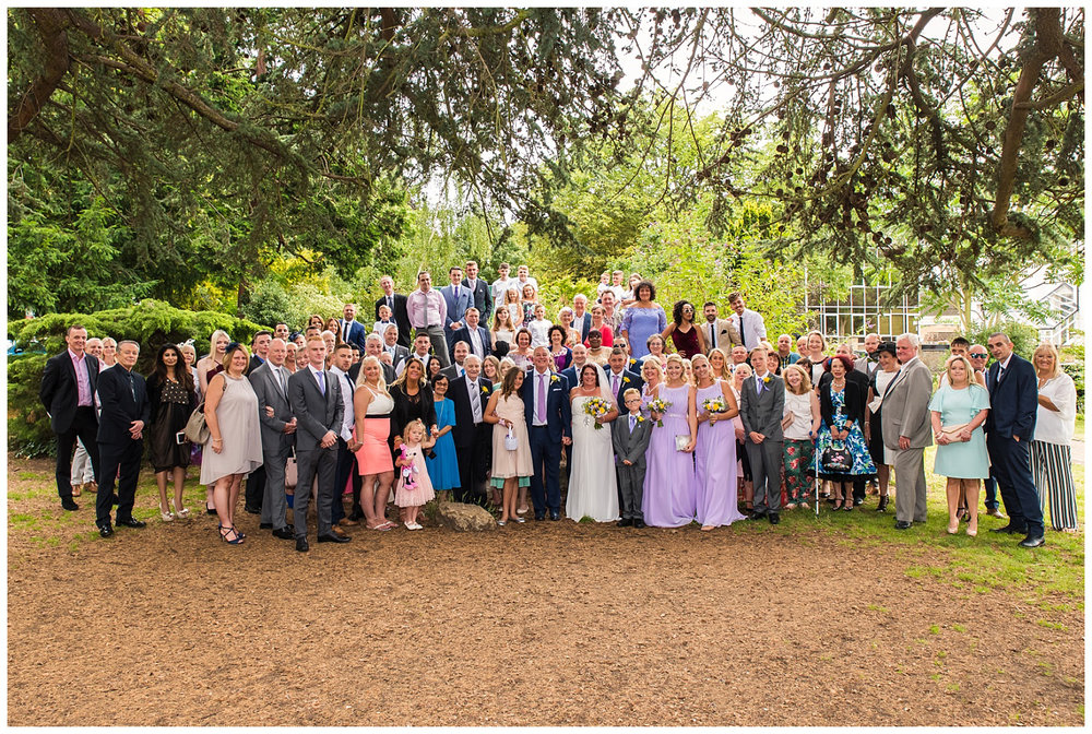 Claremont gardens wedding group photo