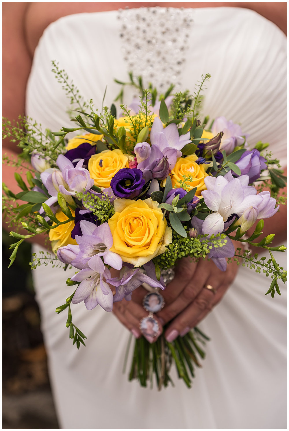 Glenmore House | Bride holding wedding flowers | bouquet