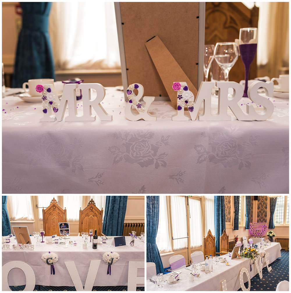 mr and mrs love letters at surbiton wedding