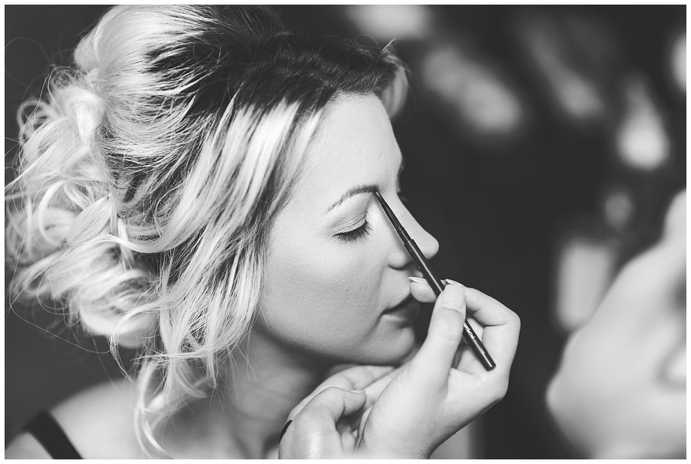 Bride having her makeup | Marriott Hotel Twickenham