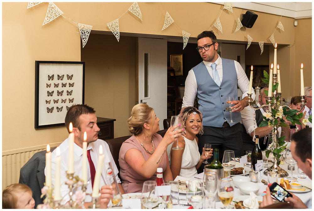 wedding speeches at Red Lion Pub Teddington