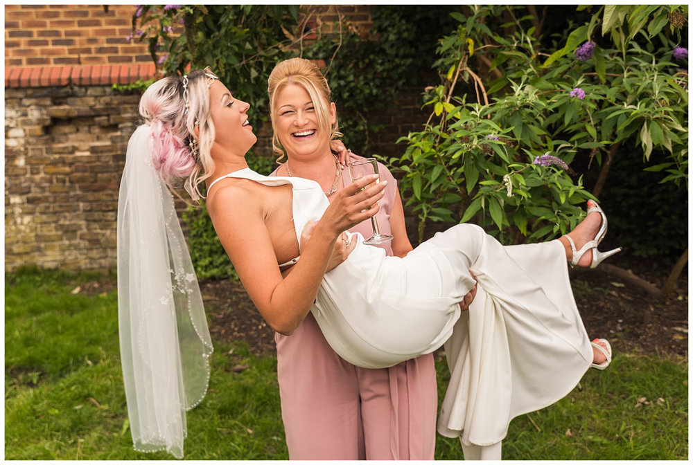Fun Wedding Group Photos | Red Lion Pub Teddington | Surrey Wedding Photographer